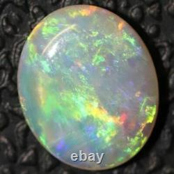 0.63 cts Crystal Opal Cabochon, Australian Solid Cut Loose Gem Stone, Lightning