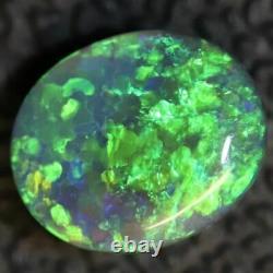 0.79 cts Australian Black Opal Lightning Ridge, Solid Gem Stone, Cabochon