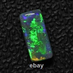 0.82 cts Australian Solid Semi Black Opal, Lightning Ridge Cut Stone