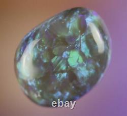 0.8ct GORGEOUS GREEN BLUE GENUINE LIGHTNING RIDGE SOLID CRYSTAL OPAL GEM a335
