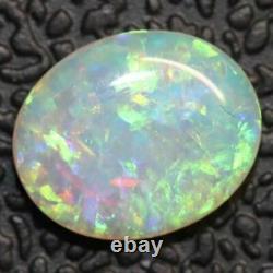 0.94 cts Crystal Opal Cabochon, Australian Solid Cut Loose Stone, Lightning Ridg