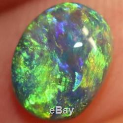 0.95 cts Australian Black Opal Lightning Ridge, Solid Gem Stone, Cabochon