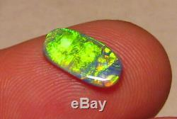 1.0 ct. Brilliant Black Opal from Lightning Ridge solid color