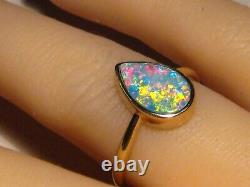 1.0 ct. Opal Ring 3 grams solid 14k Yellow Gold Free Re Size