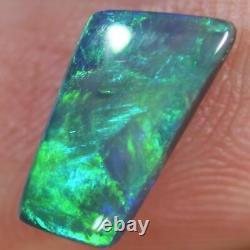 1.01 cts Australian Black Solid Opal, Lightning Ridge CMR