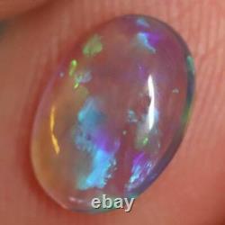 1.12 cts Australian Lightning Ridge, Semi Black Crystal Solid Opal, Cabochon Loo