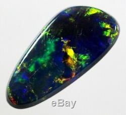 1.13ct Bright Blue Multi-Coloured Gem Solid Black Opal! (025)