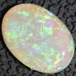 1.20 cts Crystal Opal Cabochon, Australian Solid Cut Loose Gem Stone, Lightning