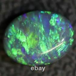 1.45 cts Australian Black Opal Lightning Ridge, Solid Gem Stone, Cabochon