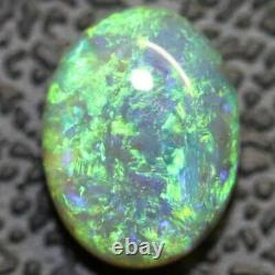 1.46 cts Semi Black Crystal Opal Solid Lightning Ridge Cabochon Loose Stone