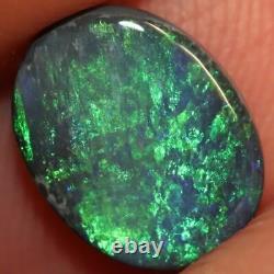 1.52 cts Australian Black Opal Lightning Ridge, Solid Gem Stone, Cabochon