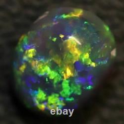 1.67 cts Australian Black Opal Lightning Ridge, Solid Gem Stone, Cabochon, Green