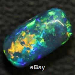1.70 cts Australian Black Opal Lightning Ridge, Solid Gem Stone, Cabochon, Green
