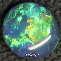 1.82 cts Australian Black Opal Lightning Ridge, Solid Green Gem Stone, Cabochon