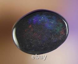 1. Ct DO NOT MISS OUT PRETTY LAVA RED LIGHTNING RIDGE SOLID BLACK OPAL GEM a475