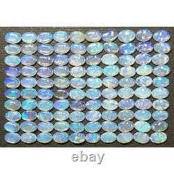 100 Pieces 6x4 mm Natural Australian Solid Opal Blue Green Crystal Opal for sale