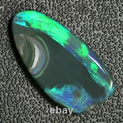 11.48 cts Australian Black Opal Solid Loose Cut stone, Lightning Ridge