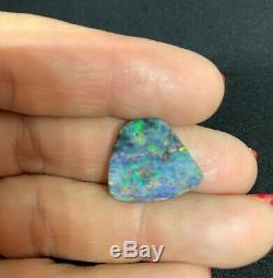 12.5 carat Solid Boulder Opal Blues & Greens #2