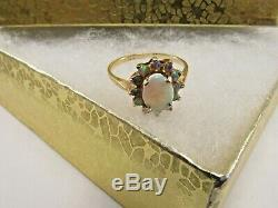 14k Solid Gold 1/2ct. Fire Opal Dinner Ring 15mm Size 7 SAVE 400. #R523