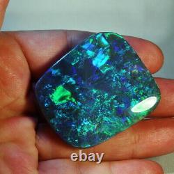 176.10 carats NATURAL SOLID LIGHTNING RIDGE BLACK OPAL GEMSTONE (175)
