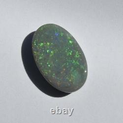 18x11mm 6.64ct Lightning Ridge Black Opal Australia Natural Solid Loose Stone
