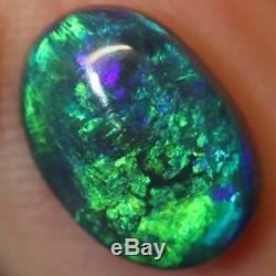 2.05 cts Australian Black Opal Lightning Ridge, Solid Gem Stone, Cabochon