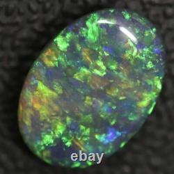 2.09 cts Australian Black Opal Lightning Ridge, Solid Gem Stone, Cabochon