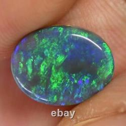 2.35 cts Australian Solid Semi Black Opal, Lightning Ridge
