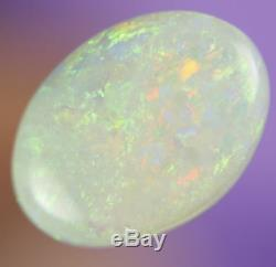 2.3ctWOW SUPERB RED GREEN FLASHY LIGHTNING RIDGE SOLID MILK OPAL GEM ab179