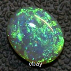 2.57 cts Australian Semi Black Opal Solid Lightning Ridge Cabochon Loose Stone