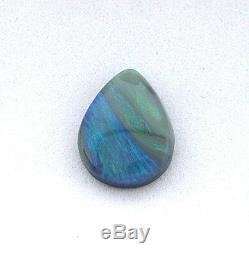 2.60 Carat Natural Solid Lightning Ridge Blue Green Opal Cabochon Australian Gem