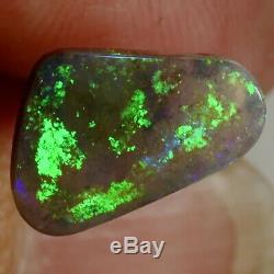 2.98 carats GREEN Solid Lightning Ridge Australian Black Opal (14332)
