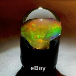 22.5ct Natural Ethiopian Crystal Opal Contraluz Solid Inner (Rainbow) Flash
