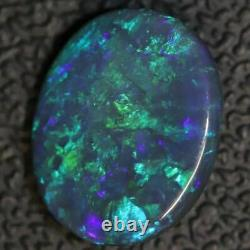 3.17 cts Australian Black Opal Lightning Ridge, Solid Gem Stone, Cabochon