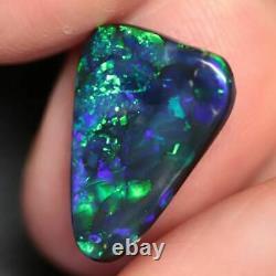 3.40 cts Australian Black Opal, Lightning Ridge, Solid Stone