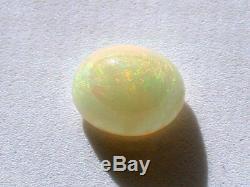 3.92 Carat 12x10 Oval Solid Australian Rainbow Peach Opal Cabochon Cab Gemstone