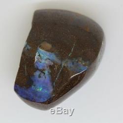 393ct / 78g Natural Solid Boulder Opal Specimen Australian Polished Blue Green