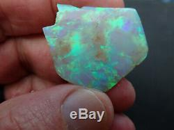 39Ct Lighting Ridge solid Green Opal Rub from a Miners Hoard