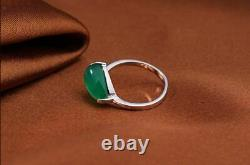 3Ct Pear Cut Green Opal Adjustable Engagement Ring Solid 14K White Gold Finish