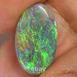 4.52 cts Australian Solid Semi Black Opal, Lightning Ridge