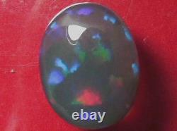 5.87Carat Rolling Colour Pattern Natural Solid Black Crystal Opal
