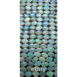 50 Piece Lot of 6x4 mm Natural Australian Solid Green Translucent Opal for sale