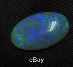 6.19c Natural Solid Lightning Ridge Green Blue Opal Cabochon Australian Gemstone