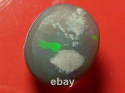 7.17 Carat Rolling Harlequin Colour Pattern Natural Solid Black Crystal Opal