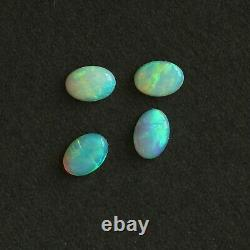 7 x 5 oval Set of 4 Australian light crystal opal natural solid loose stone