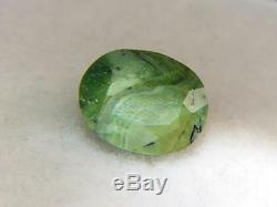 9.31ct Stunning Solid With Unique Green Faceted Tanzanian Opal With Chatoyancy