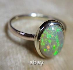 9k 9ct Vintage Solid Gold Opal Ring