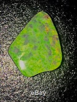 AMAZING NEON GREEN 7.32 Ct. Natural Australian Lightning Ridge NEON Opal Solid