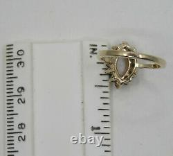 ANTIQUE BT VICTORIAN SOLID 10K GOLD OPAL & GREEN CHROME DIOPSIDE RING sz 4.5