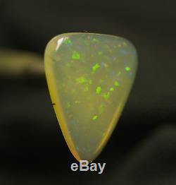AUSTRALIAN NATURAL SOLID JELLY OPAL CUT STONE BRIGHT GREEN FLASH opal digger